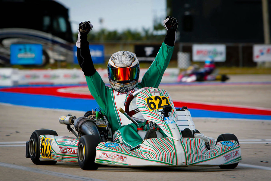 Victor Jimenez dominated the S4 / S4 Super Master Stock Honda race group at the inaugural SKUSA Winter Series event for Rolison Performance Group (Photo: On Track Promotions – otp.ca)