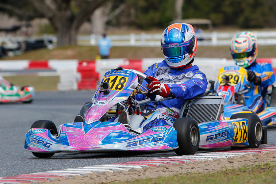 Pedro Lopes added another podium finish in S2 Semi-Pro Stock Honda to finish the SKUSA Winter Series third in the standings (Photo: On Track Promotions – otp.ca)