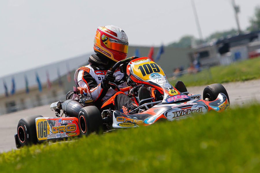 Kyle Wick finished out his rookie S1 Pro season with a third podium finish, earning the SKUSA #2 plate for 2019 (Photo: On Track Promotions – otp.ca)
