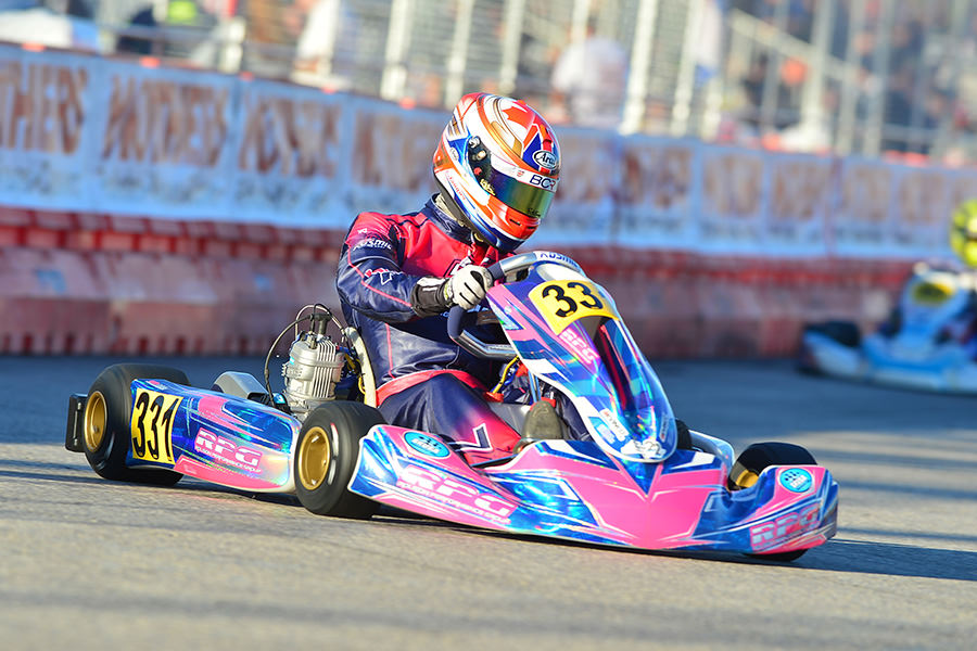 Canadian Ben Cooper drove to victory for Rolison Performance Group in the X30 Senior division for his second career win at the SuperNationals (Photo: On Track Promotions - otp.ca)